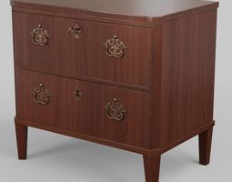 Classic chest of drawers England around 1810 3D