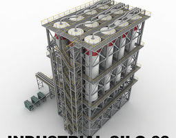 3D Industrial silo 03