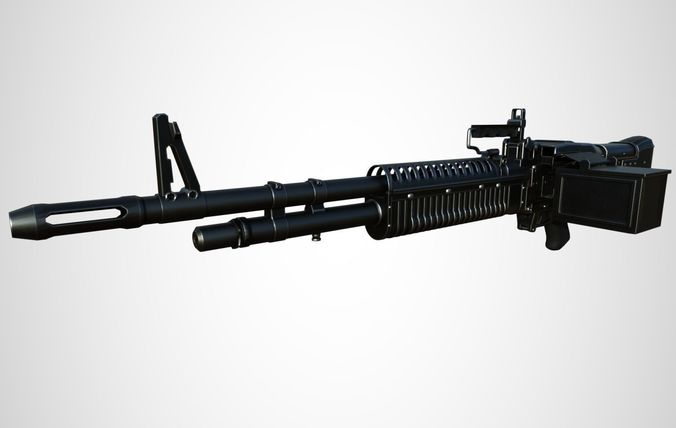 m60 military heavy weapon 3d model cgtrader