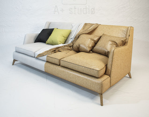 vibieffe class 680 sofa 3d model max obj mtl fbx unitypackage prefab 1