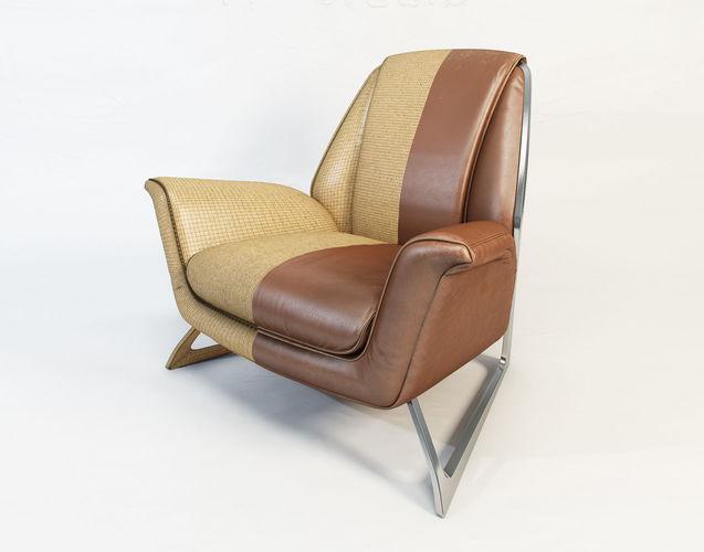 poltrona frau luft armchair by walter maria de silva 3d model max obj mtl fbx unitypackage prefab 1