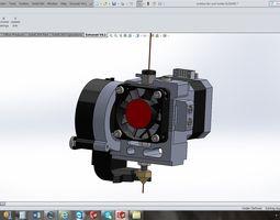 3d model makerbot replicator 2 extruder conversion