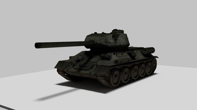 tank t34 3d model obj mtl blend 1