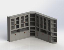 rustic library 3D model