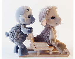 3D model Sheep and goat toy