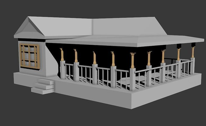 Simple house 3d model cgtrader for Simple model house picture