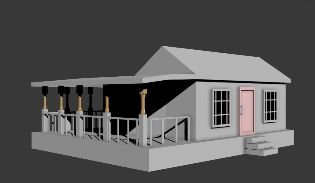 Simple house 3d model fbx for Simple home model