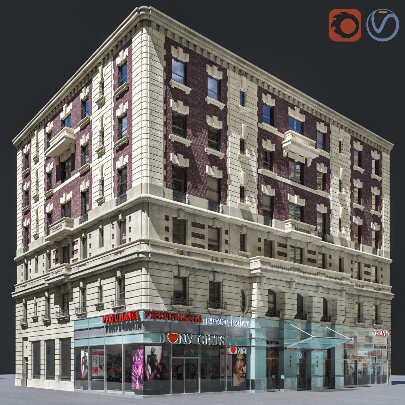 New York old building facade