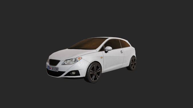 low poly car 4 3d model low-poly obj mtl 1