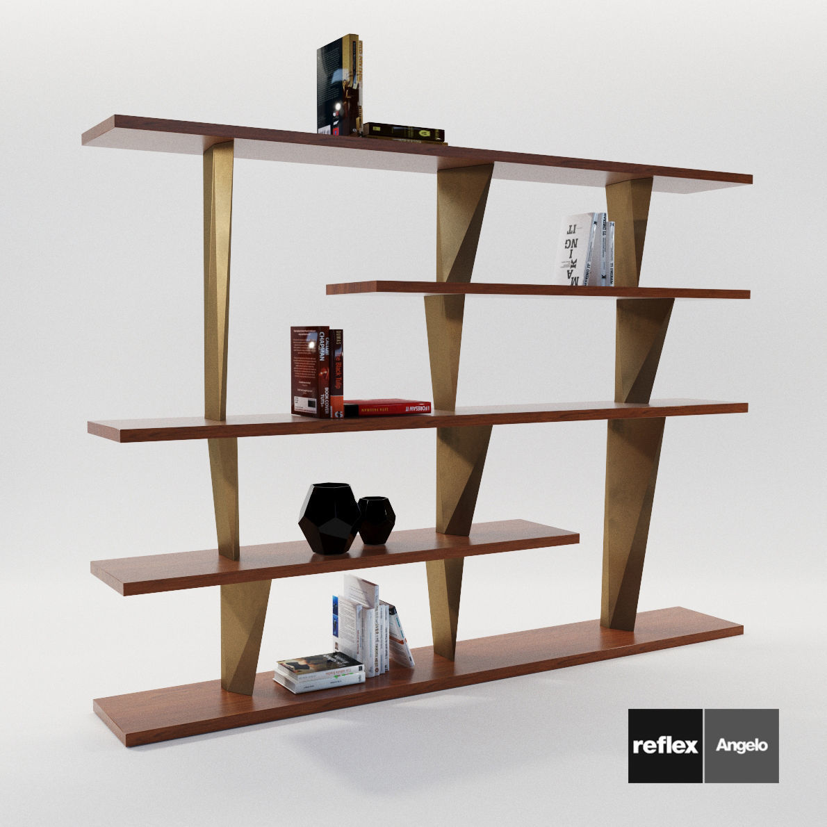 Modular Bookcase Prisma Liberia From Reflex Angelo 3d Model