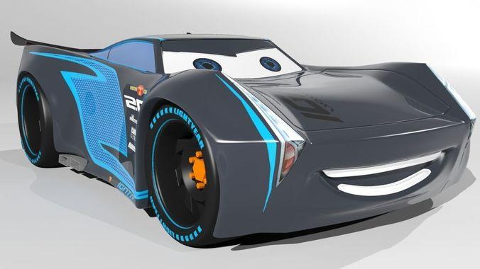 jackson storm cars 3 model 3d model low-poly max obj mtl 3ds fbx 1