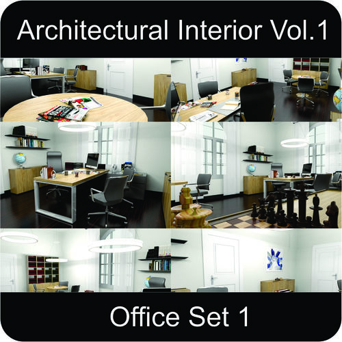 office architectural interior vol-1 3d model low-poly max obj mtl 3ds fbx gsm 1
