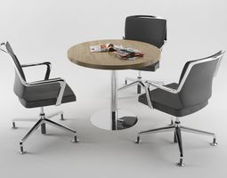 3D asset Office Meeting Table HQ