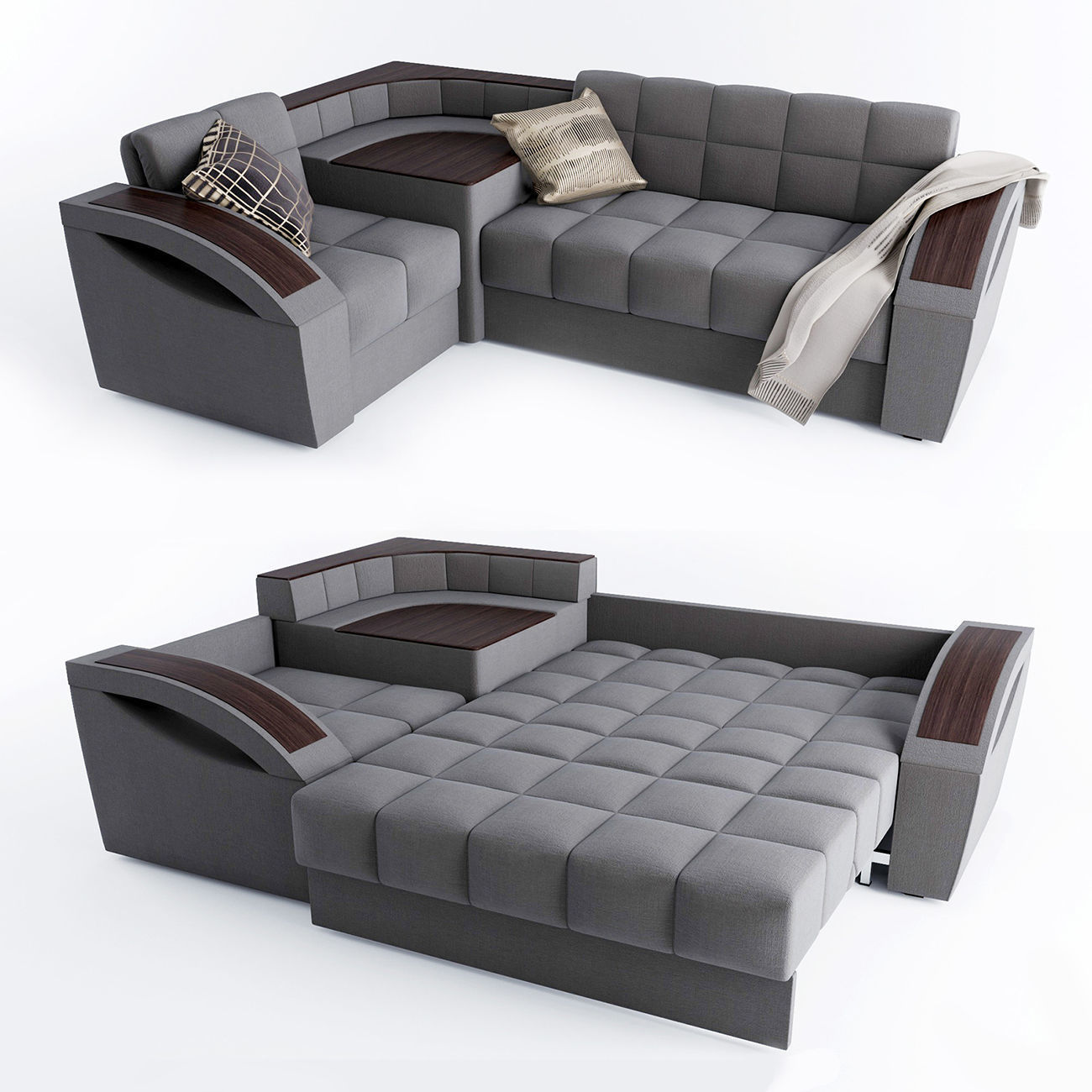 Corner Sofa Bed Montreal With A Left Angle Hoff Model Max Obj Mtl 1