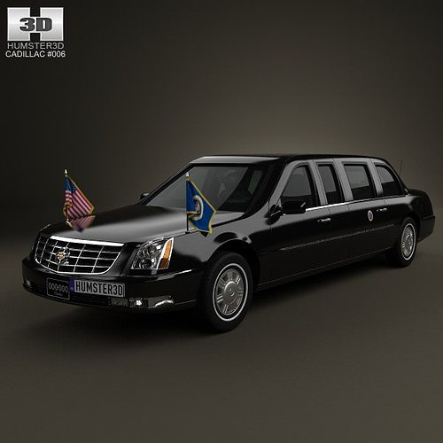 Limousine For Sale >> Cadillac DTS Limousine 2005 3D model | CGTrader