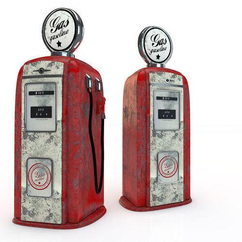 vintage gas pump 3d model obj 3ds c4d 1