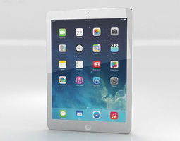 3D model Apple iPad Air Silver WiFi