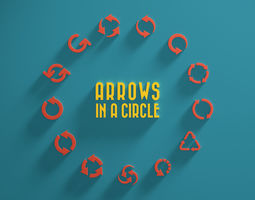 navigation 3D model Arrows in a Circle