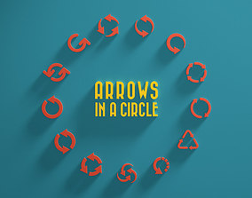 navigation 3D model Arrows in a Circle