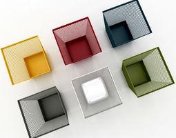 3D model Paper Waste Bin 2
