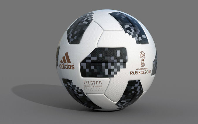 soccer ball 2018 telstar 18 3d model max obj mtl fbx 1