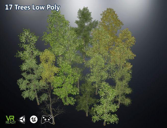 game ready low poly trees 3d model max obj mtl 3ds fbx tga 1