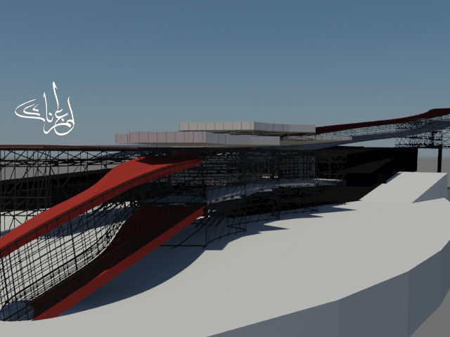 bus station and transportation terminal 3d model max 1