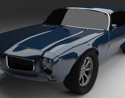 3D model Pontiac Firebird 1970