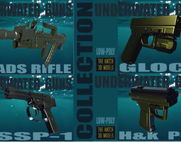 UNDERWATER GUNS COLLECTION 3D asset