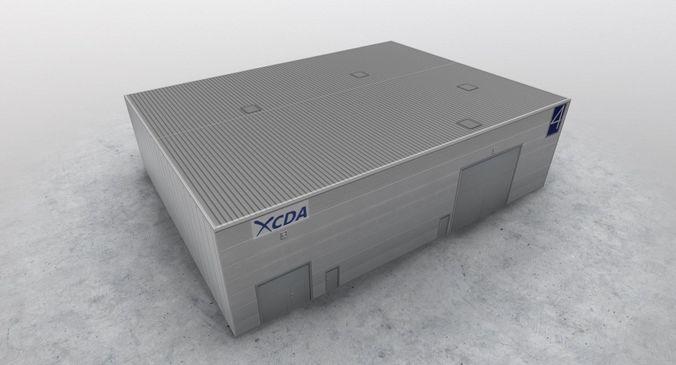 lfmn garage 3d model low-poly max obj 3ds fbx mtl 1