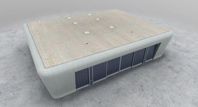 lfmn hangar 2 3d model low-poly max obj 3ds fbx ma mb mtl 1