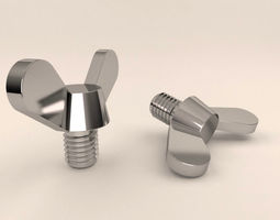 3D Wing screw round wings DIN 316 Orijinal Size ready 1