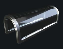 vrayscene Glass Corridor 3D