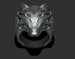 Wolf ring 3D print model