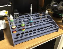 3D print model Acrylic paint stand