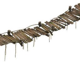 Wood - Sling Bridge 01 3D tower