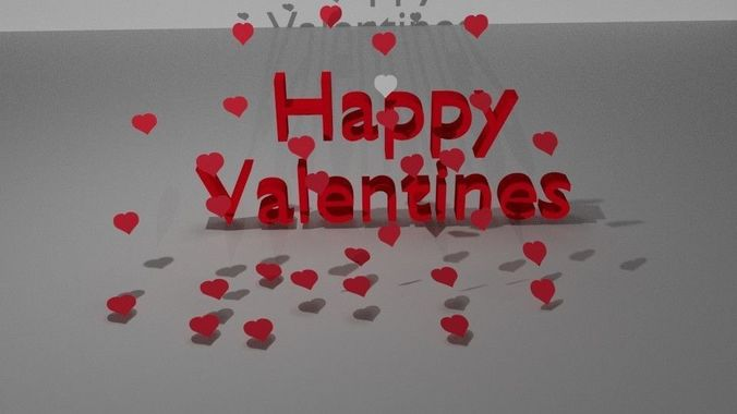 3d Model Happy Valentines Day Cgtrader