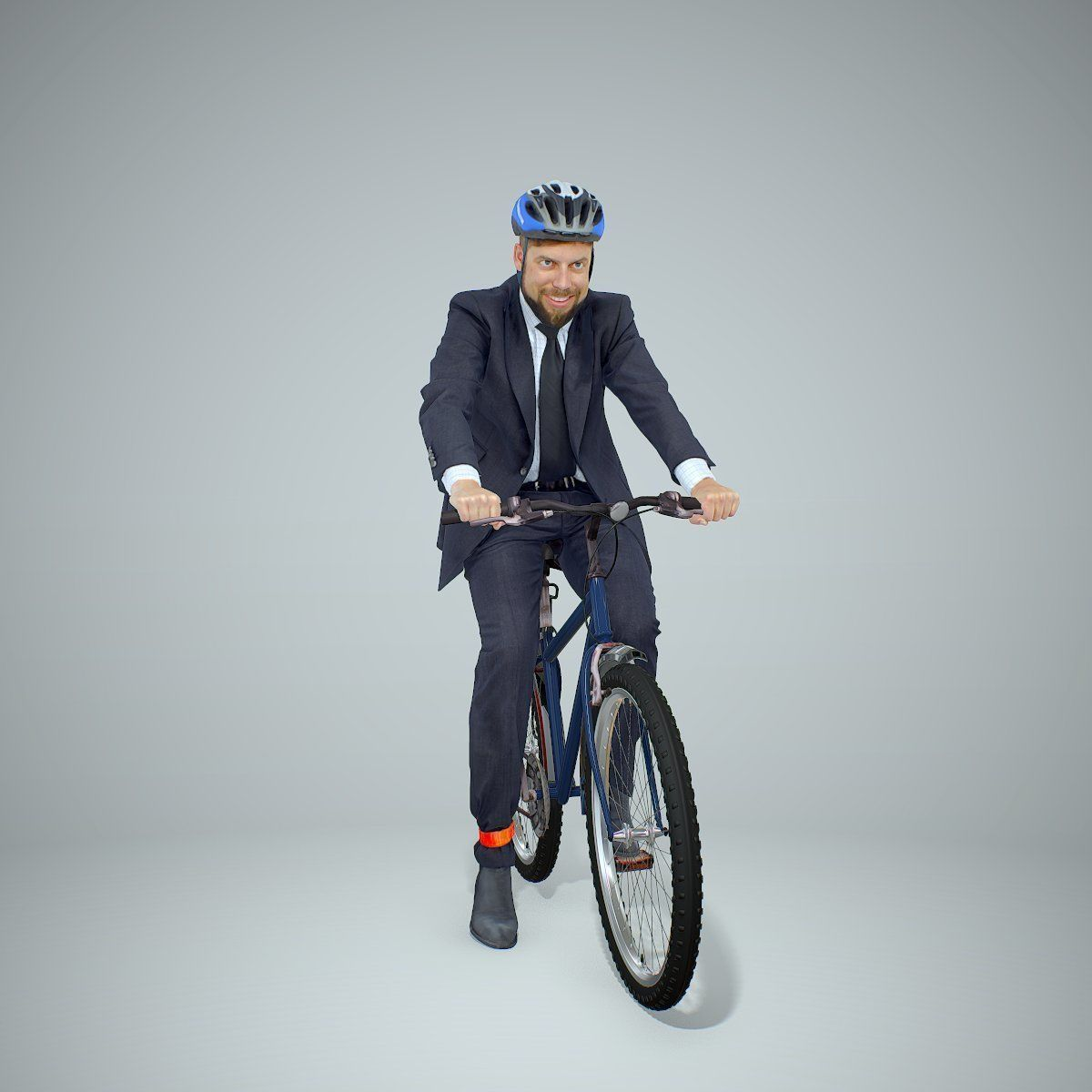 Cycling Business Man with Helmet BMan0306-HD2-O01P01-S