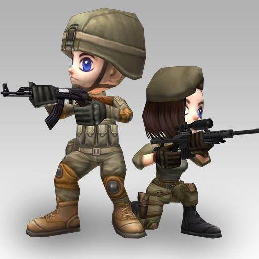 Animated Chibi Cartoon Soldiers
