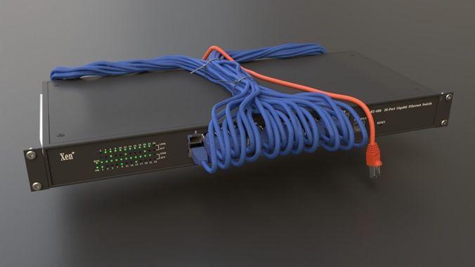 3d model server rack media cgtrader rh cgtrader com Rack Wiring Best Practices Wiring Cabinet