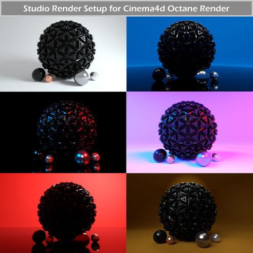 octane render studio setup for cinema4d 3d model c4d 1