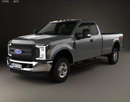 F-250 Super Duty Super Cab XLT 2015 3D model