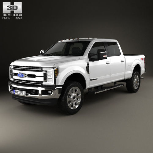 ford f-350 super duty super crew cab king ranch 2015 3d model max obj 3ds fbx c4d lwo lw lws 1