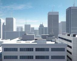 Low poly city 3D model VR / AR ready