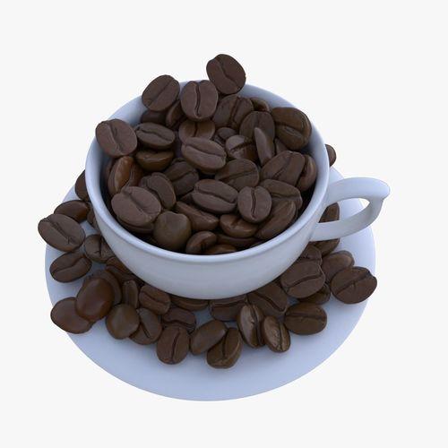 coffee bean 3d model max obj mtl fbx ma mb stl blend 1