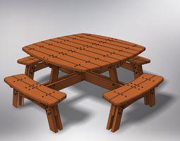 Garden table 3D