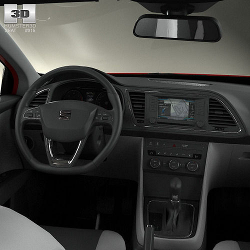 3D Seat Leon FR 5-door hatchback with HQ interior and 1