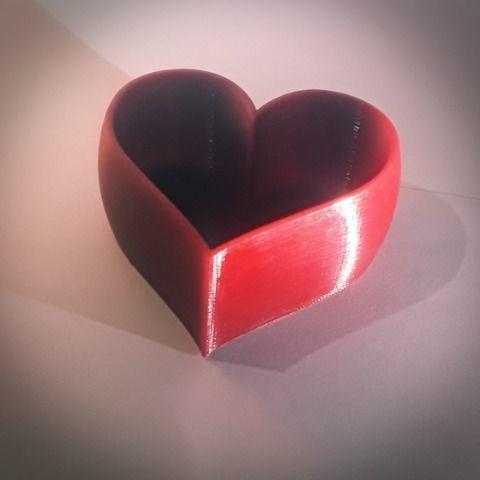 heart shaped pot 3d model stl 1