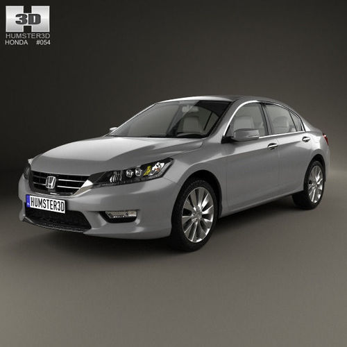 Honda accord with hq interior 2013 3d model max obj 3ds for Honda accord base model