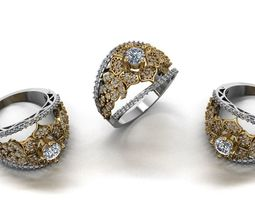 diamond fashion ring jewelry design 49 3D printable model